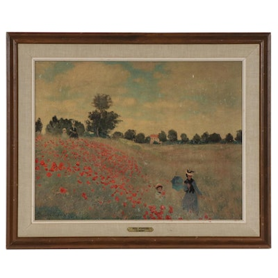 "Offset Lithograph after Claude Monet ""Red Poppies"""