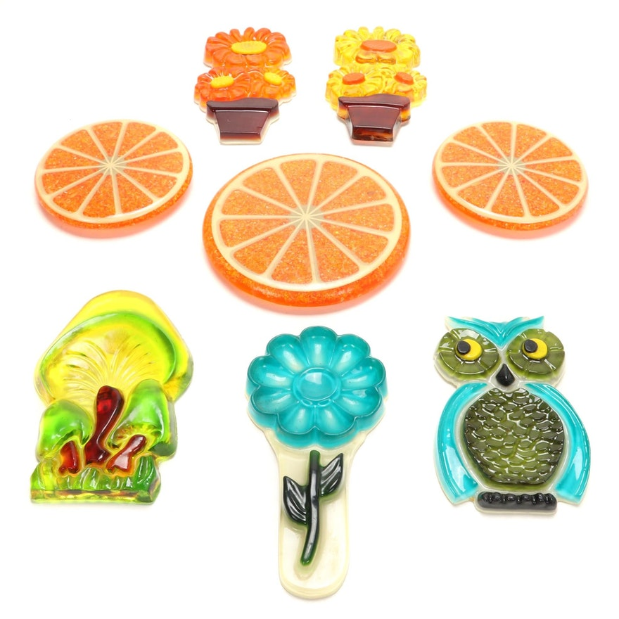 Orange Slice Resin Trivets, Daisy Spoon Rest and Wall Hangings