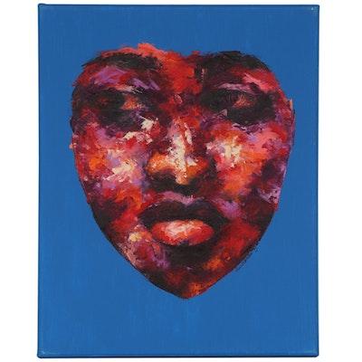 "Oluwakemi Omowaire Oil Painting ""Maybe It Will Make Sense Someday,"" 2020"