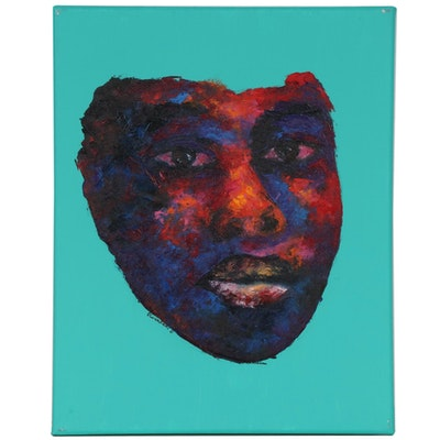 "Oluwakemi Omowaire Impasto Oil Painting ""Keeping Strong,"" 2020"