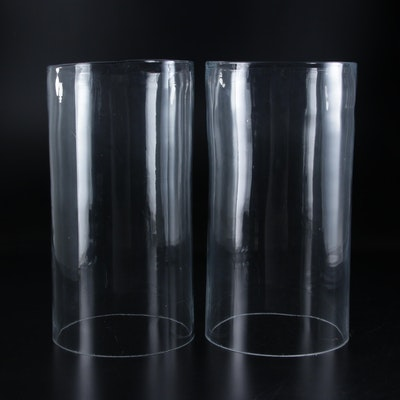 Pair of Blown Glass Hurricane Shades