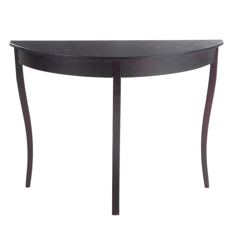 Contemporary Demilune Console Table
