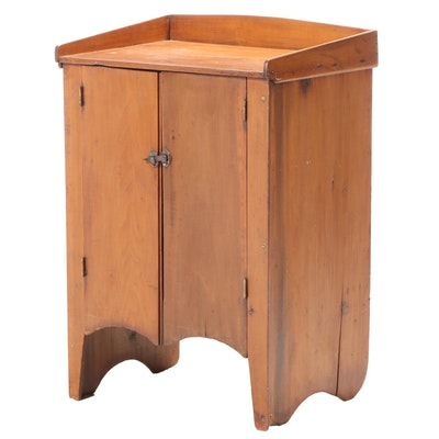 American Primitive Style Wood Washstand, Early 20th Century