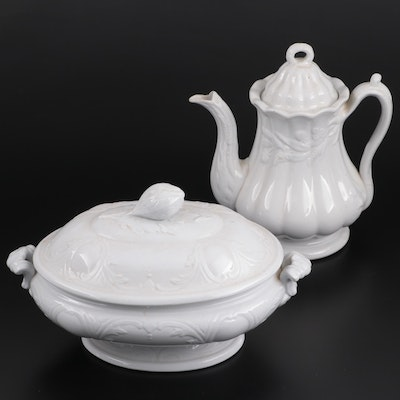 English Ironstone Tomkinson Bros and Co Pitcher and J. Clementson Tureen