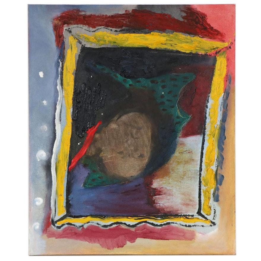 "Philip the Transplant Mixed Media Painting ""JFK,"" 2018"