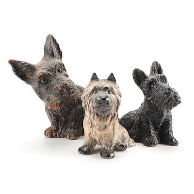 Terrier Figurines, Early to Mid 20th Century