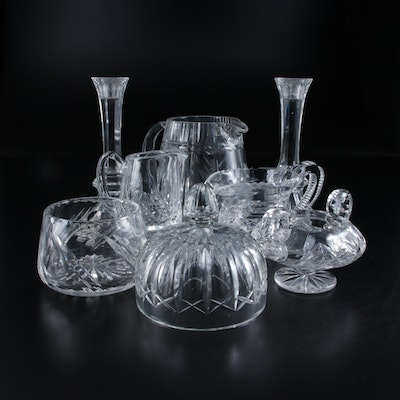 Crystal Candlesticks, and Other Glass and Crystal Table Accessories, Late 20th C