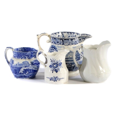 """Copeland """"Spode's Italian"""" and Other English Pitchers, Early-Mid 20th Century"""