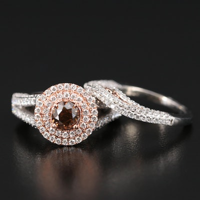 14K 3.26 CTW Diamond Ring Set