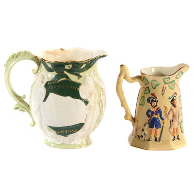 Shelley and Wileman Shakespeare Jug and Other Staffordshire Pitcher