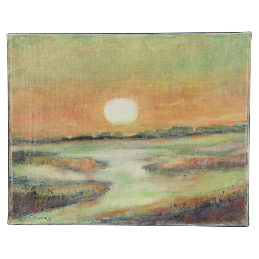 "Rebecca Manns Oil Painting ""Morning Haze,"" 2020"