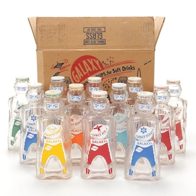 Galaxy Space Age Syrup Bottles / Coin Banks, Mid-20th Century