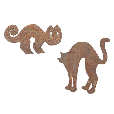 Corrugated Metal Cat Cutouts