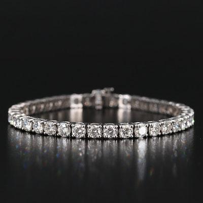 14K 9.75 CTW Diamond Line Bracelet