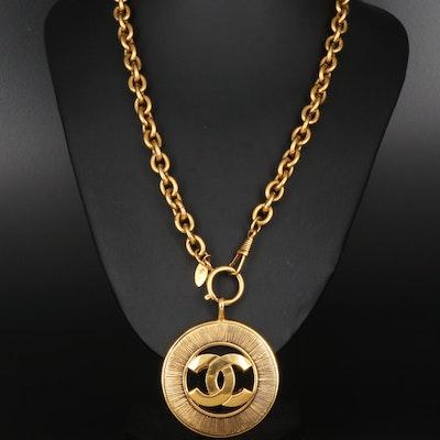 Circa 1980 Chanel Logo Necklace