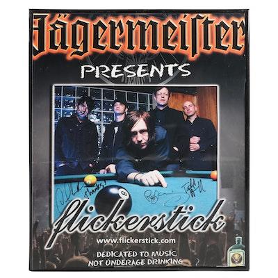 Jägermeister Presents Flickerstick Rock Band Autographed Poster