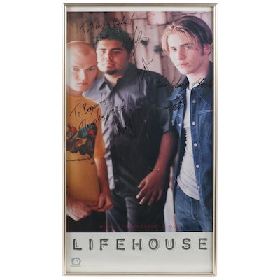 Lifehouse Autographed Framed Poster