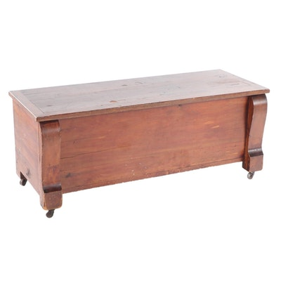 American Empire Style Lift-Lid Cedar Chest, Early to Mid 20th Century