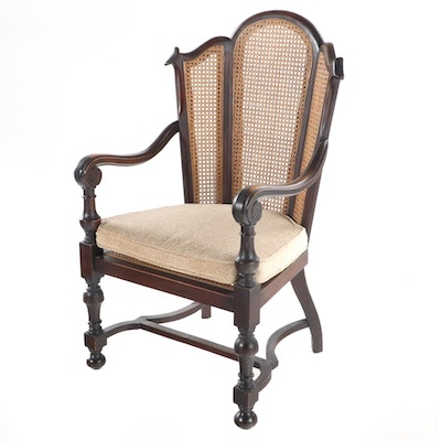 William D. Schantz Co. Louis XIII Style Walnut Armchair, Early 20th Century
