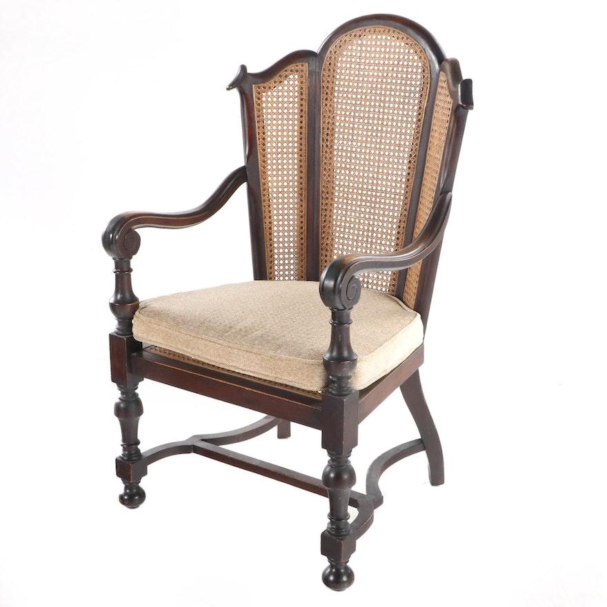 William D. Schantz Co. Louis XIII Style Walnut Armchair, Early 20th Century