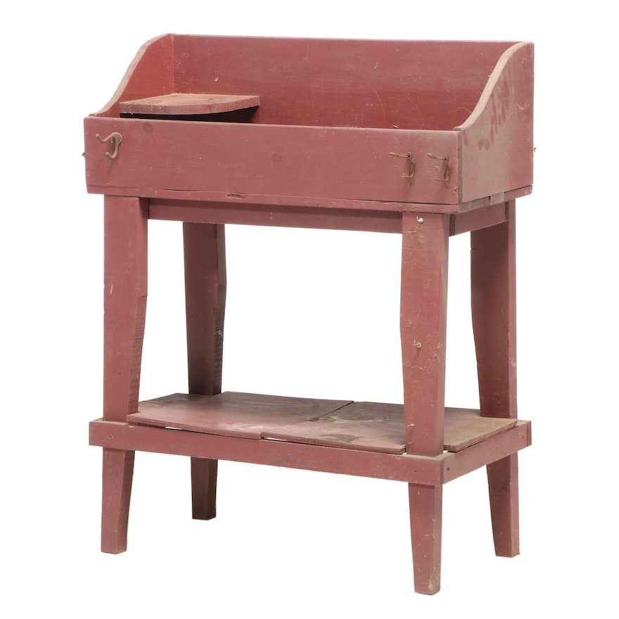 American Primitive Painted Garden Potting Bench, Early/Mid 19th Century