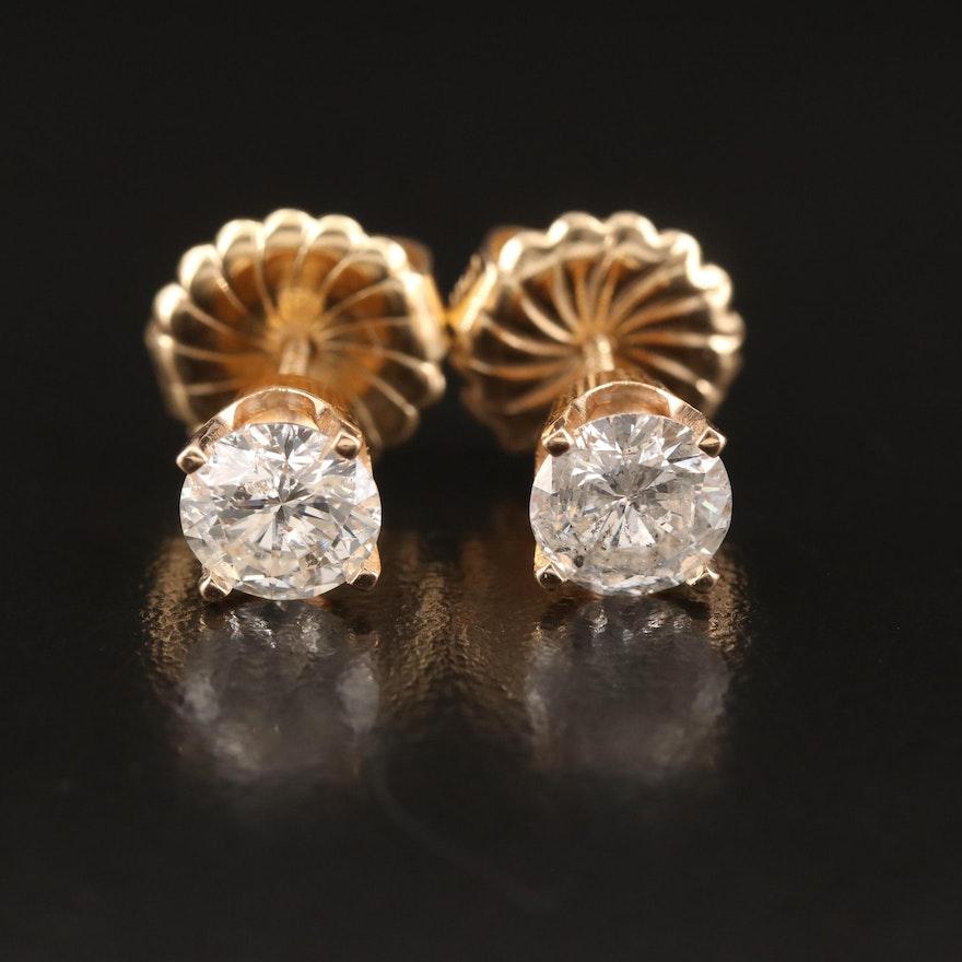 14K 1.73 CTW Diamond Stud Earrings