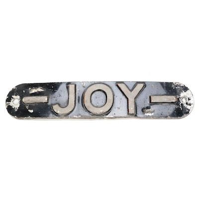 """Aluminum """"Joy"""" Decorative Wall Sign"""