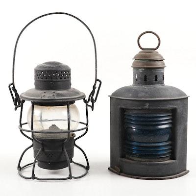 Antique L&N Railroad and Ship Lanterns