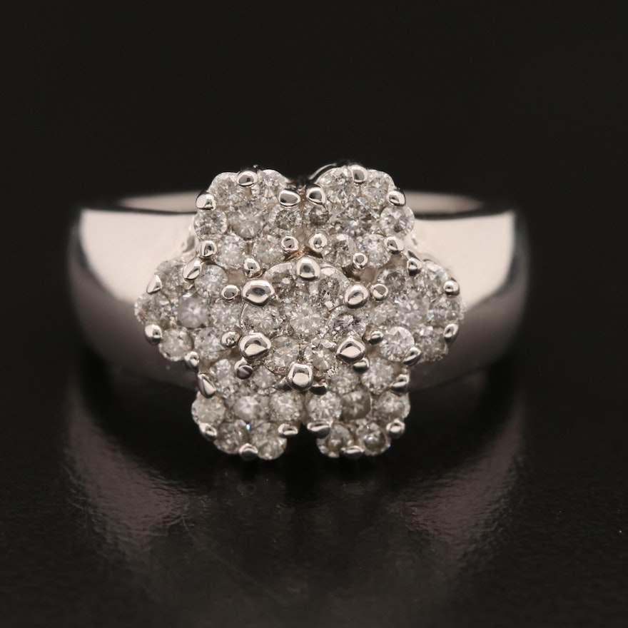 EFFY 14K Diamond Cluster Ring