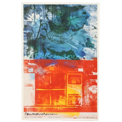 "Robert Rauschenberg Offset Lithograph Poster ""Edison Community College..."""