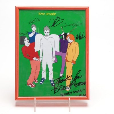Autographed and Framed Love Arcade Poster