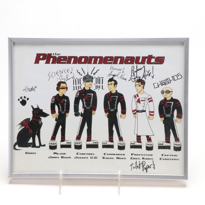Autographed and Framed The Phenomenauts Poster