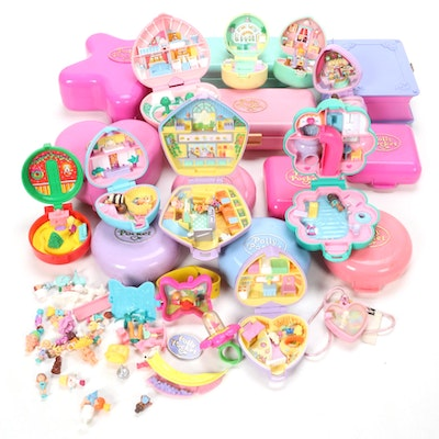 Bluebird Polly Pockets Including Baby Sitter Stamper and Others