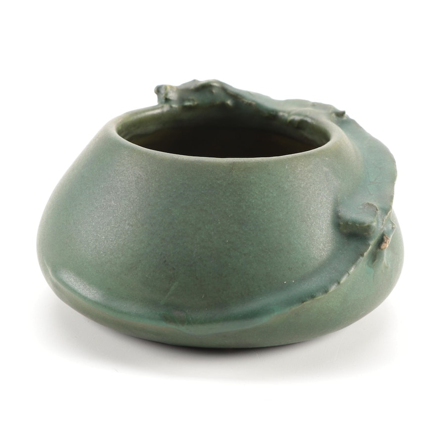 Cecil A. Duell for Rookwood Pottery Matte Green Dragon Bowl, 1908