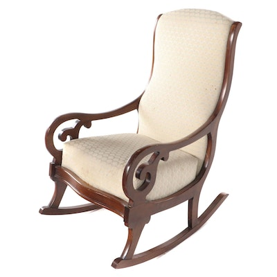 Harden Furniture Classical Style Cherrywood Rocking Armchair, Late 20th Century