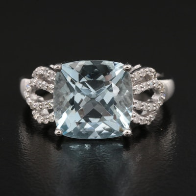 EFFY 14K Aquamarine and Diamond Ring