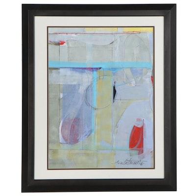 "Mark Whitmarsh Abstract Acrylic Painting ""Time Away,"" 2020"