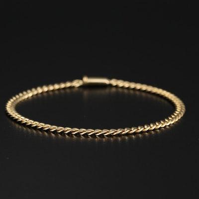 Italian Adriano Chimento 18K Curb Chain Bracelet