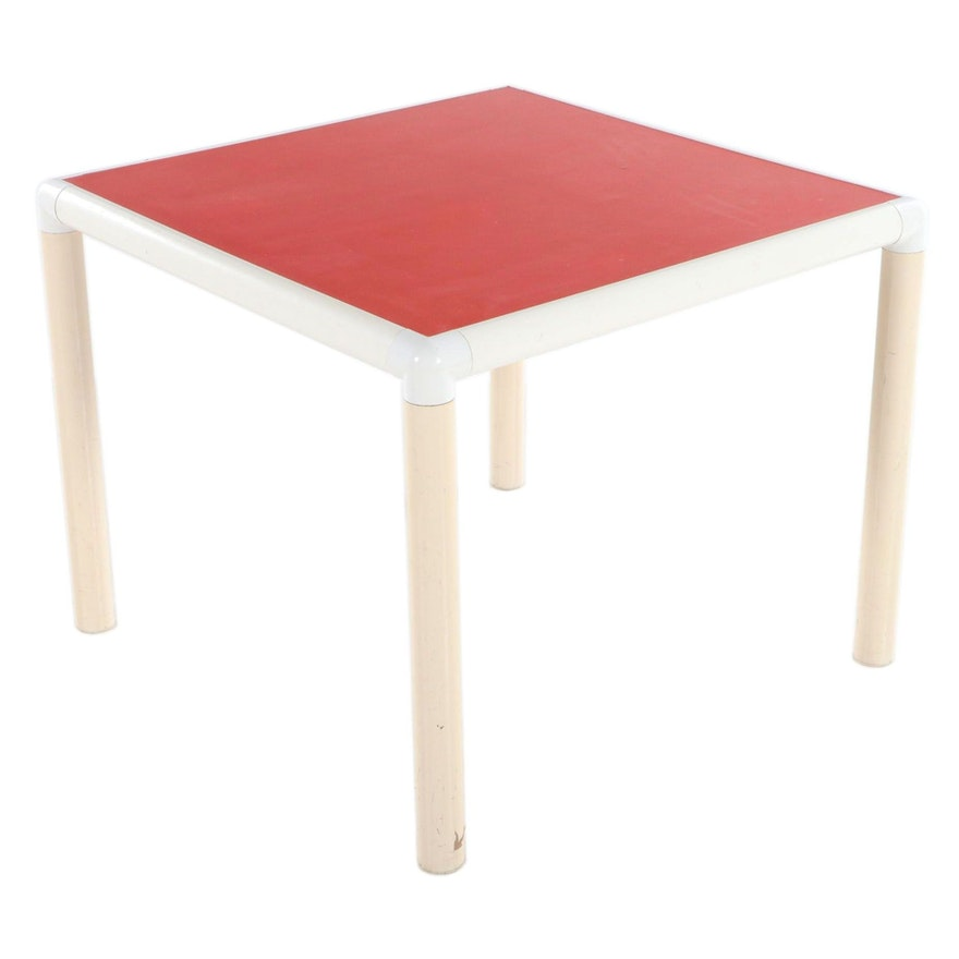 Modernist Metal and Plastic Child's Table, Late 20th Century