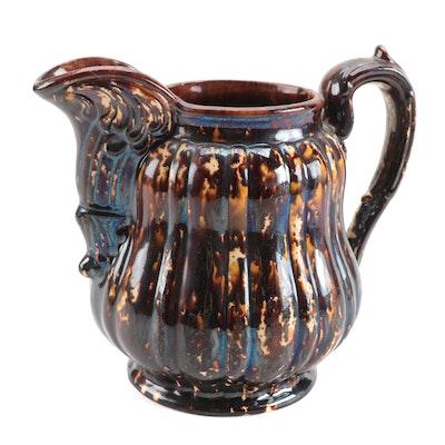 Bennington Glaze Pitcher, Mid to Late 19th Century