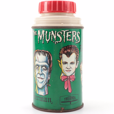 "Kayro Vue Productions ""The Munsters"" TV Series Metal Thermos, 1965"