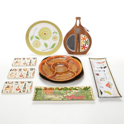 "Ben Seibel ""Village"", Russel Wright and Other Serveware, Mid-20th Century"
