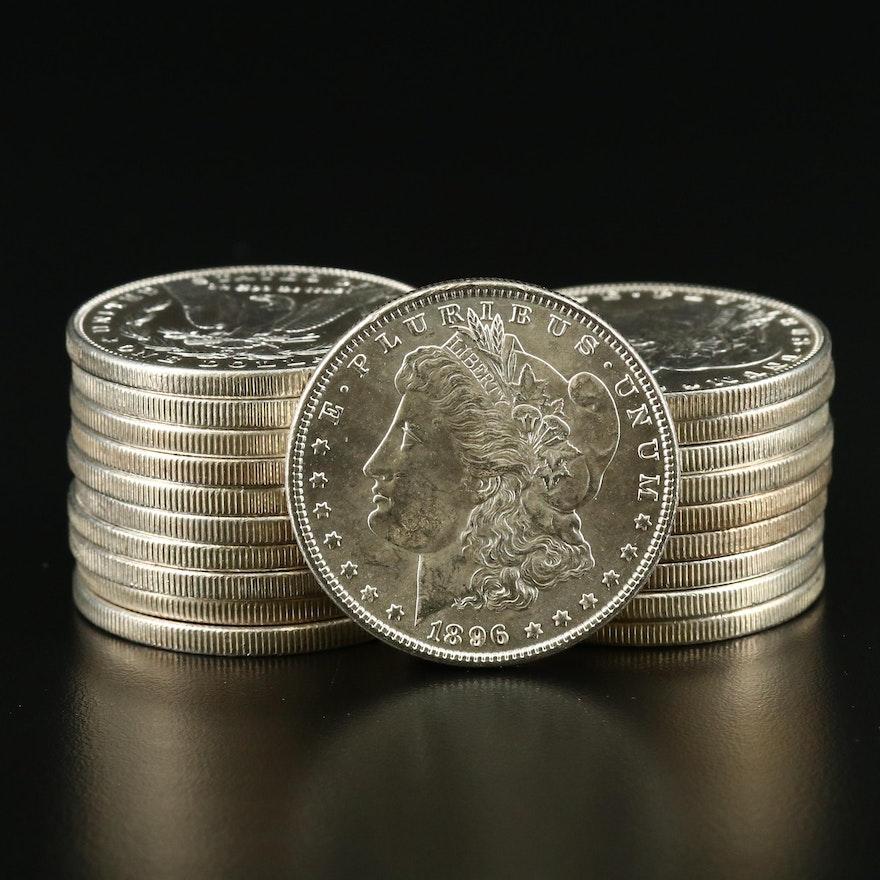 Twenty 1896 Morgan Silver Dollars