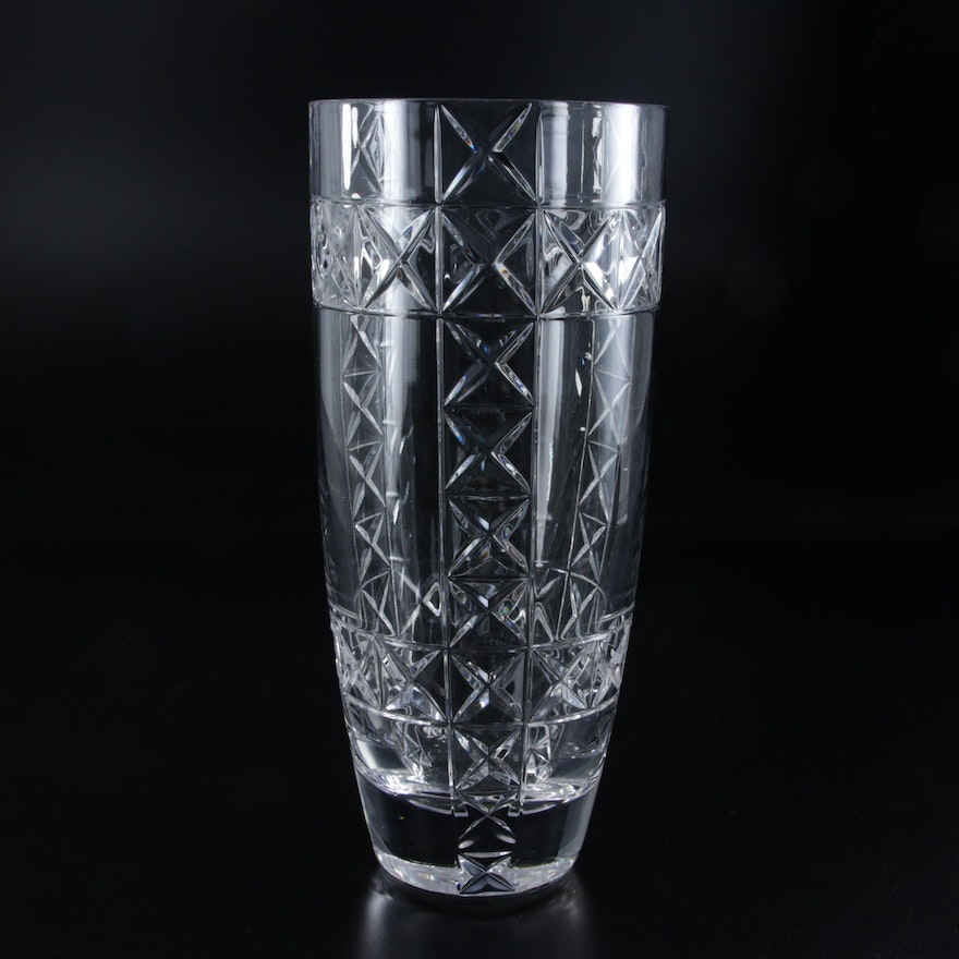 Tall Crystal  Vase, Late 20th to 21st Century