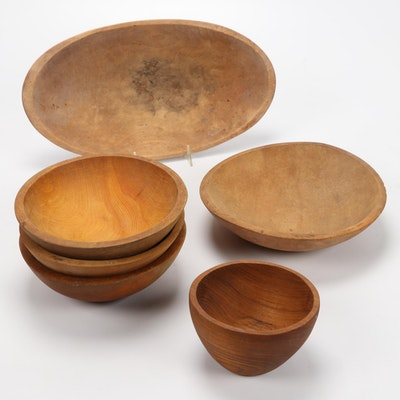Munising Woodenware Company and Other Carved Wood Bowls