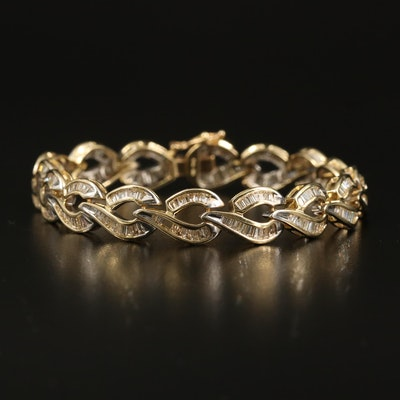 14K 5.25 CTW Diamond Loop Link Bracelet