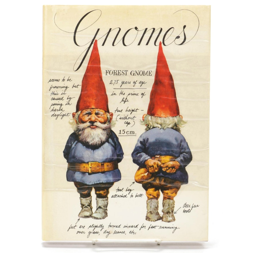 """Illustrated First American Edition """"Gnomes"""" by Wil Huygen, 1977"""