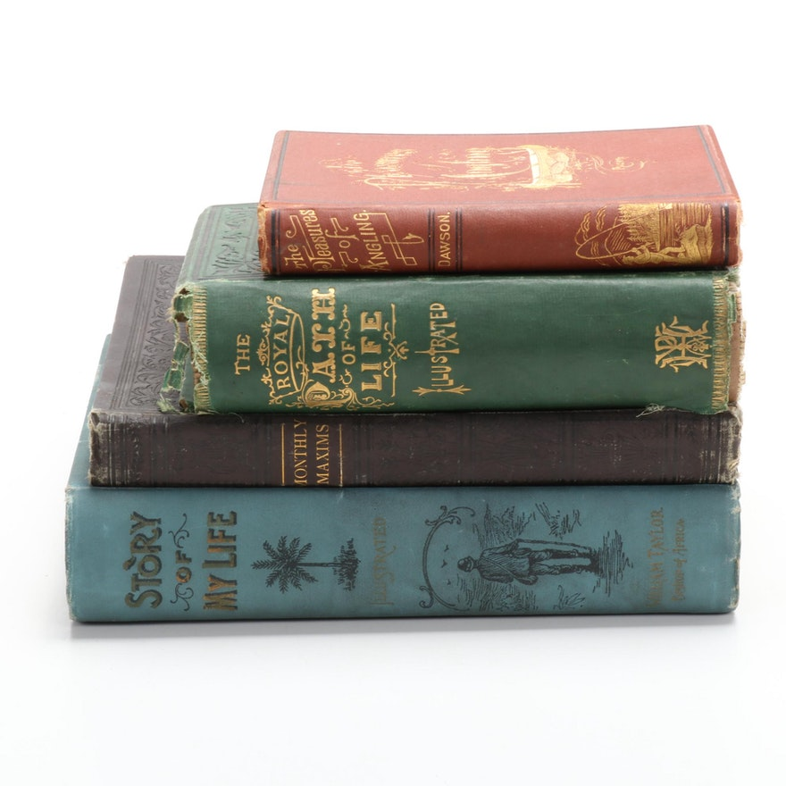 """""""Monthly Maxims"""" by R. Dudley with Memoirs and Instructional Books, 19th Century"""