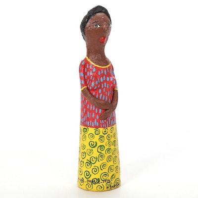 """Marta Alves Paper Mache Sculpture """"Antonia,"""" 1999"""