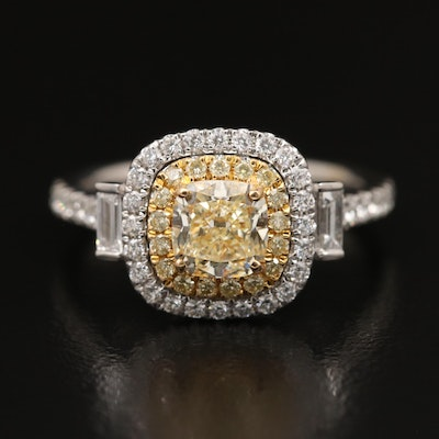 EFFY 18K Two Tone 1.60 CTW Diamond Ring